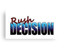 Rush Decision Blue to Black Spatter Canvas Print