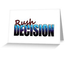 Rush Decision Blue to Black Spatter Greeting Card