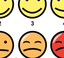 Scale of 1-10 Sticker