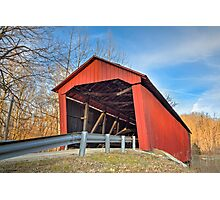 Edna Collings Covered Bridge in Indiana Photographic Print