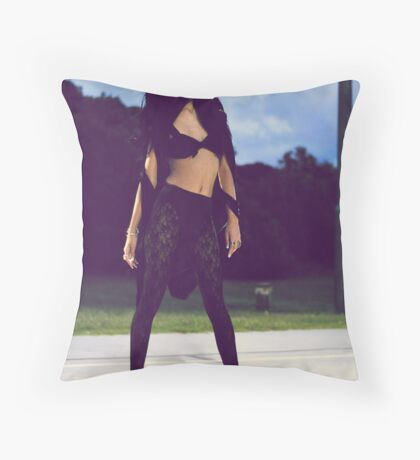 Clouds Are Coming In Throw Pillow