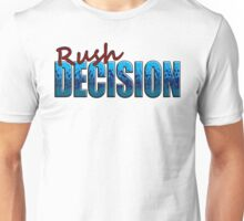 Rush Decision Blue Spatter Unisex T-Shirt