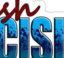 Rush Decision Blue Spatter Sticker