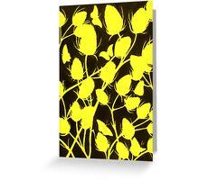Seedhead Silhouette in Yellow Greeting Card