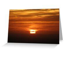 Sliced sunset Greeting Card