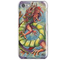 Chinese Dragon WaterColor  iPhone Case/Skin