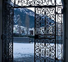 The gate to the courtyard of the palast Brig-Swiss by GOSIA GRZYBEK