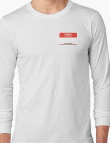 Bachao Buddy Name Tag Long Sleeve T-Shirt