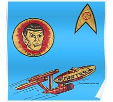 Spock Star Trek Costume from 1975 (yes, really) Poster