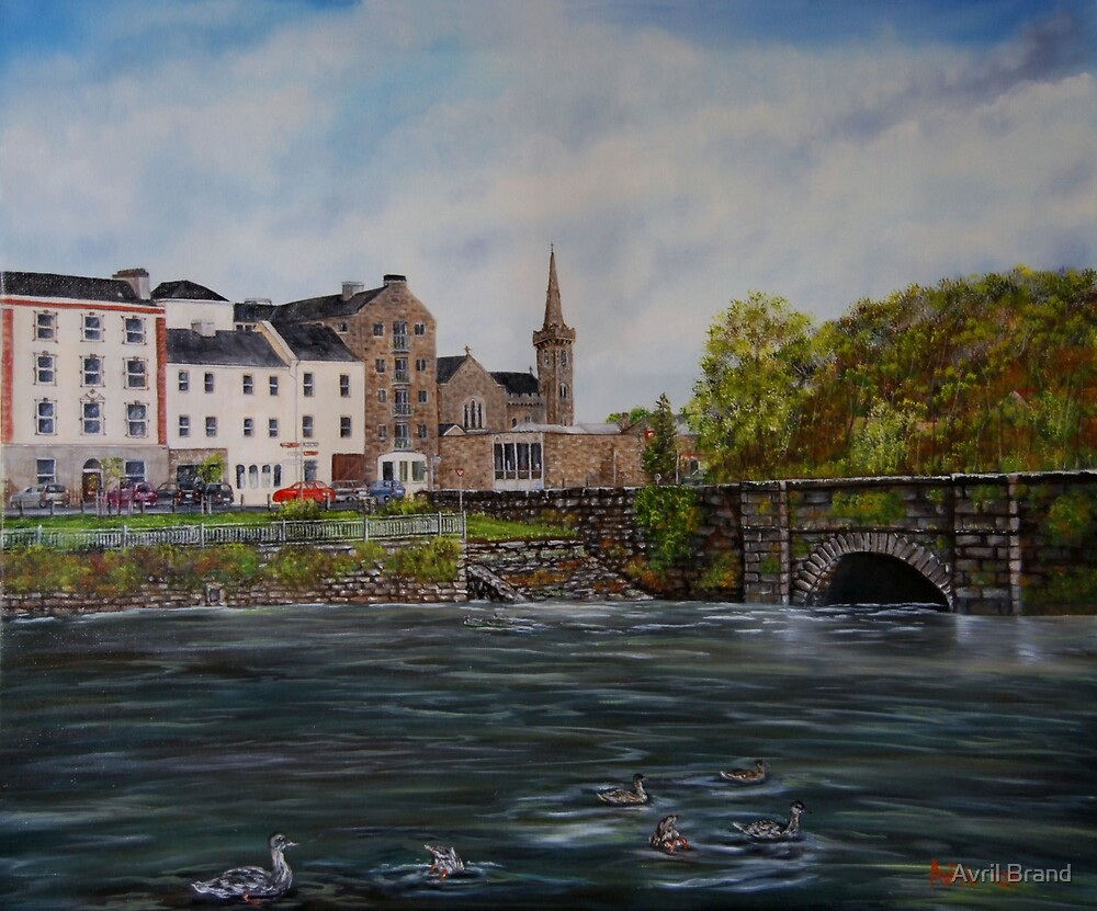 """""""Kilrush - Cill Rois"""" - Oil Painting by Avril Brand"""