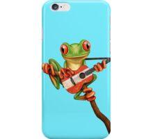 Tree Frog Playing Austrian Guitar iPhone Case/Skin