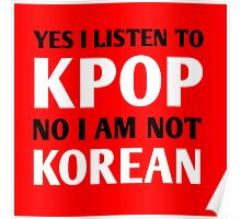 I LISTEN TO KPOP - RED Poster