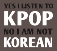 I LISTEN TO KPOP - RED Baby Tee