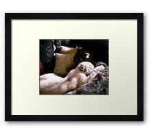 Snoozing Framed Print
