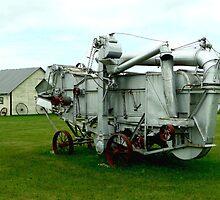 OLD THRESHING MACHINE by Larry Trupp