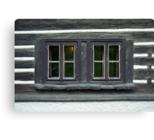 Eyes of an old house Canvas Print