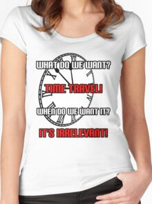What Do We Want? Time Travel! Women's Fitted Scoop T-Shirt