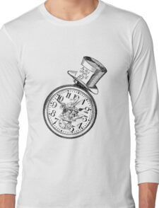 Alice in Wonderland Ticking tock Long Sleeve T-Shirt