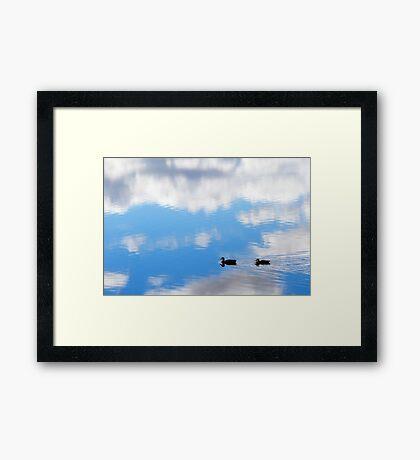 Autumn Lake Reflection Framed Print