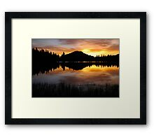Sprague Lake Sunrise Reflections Framed Print