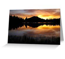 Sprague Lake Sunrise Reflections Greeting Card