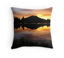 Sprague Lake Sunrise Reflections Throw Pillow