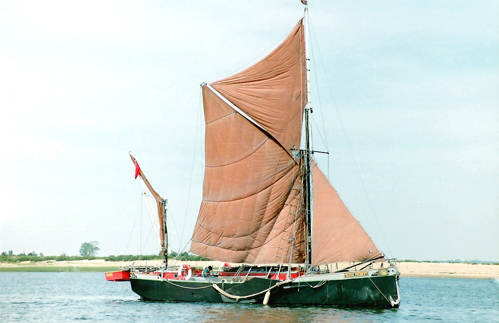 Small Thames Barge by Edward Denyer