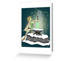 The Saber In The Stone Greeting Card