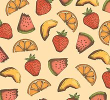 Fruit Medley Pattern Design by janelledimmett
