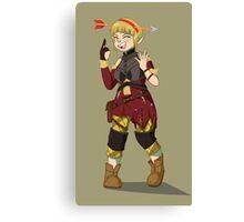 Sera Laughing Alone With Arrow Headband Canvas Print