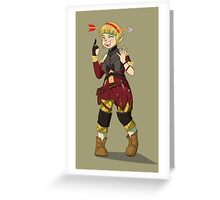 Sera Laughing Alone With Arrow Headband Greeting Card