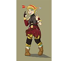 Sera Laughing Alone With Arrow Headband Photographic Print