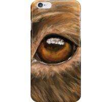 Eye of the Dog - Close-Up Painting of Pit Bull's Eye iPhone Case/Skin