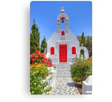 Greek Chapel Canvas Print