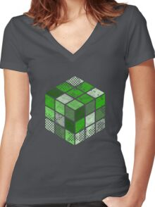 RubixBaby Women's Fitted V-Neck T-Shirt