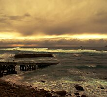 Rough Seas and Sunset by Paul Gibbons