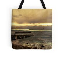 Rough Seas and Sunset Tote Bag