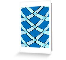 Curved tiles Greeting Card