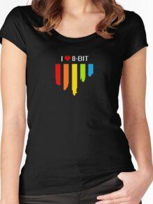 I Heart 8-Bit Women's Fitted Scoop T-Shirt