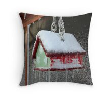 Winter Birds Throw Pillow