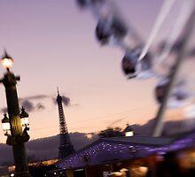 Eiffel Tower & Ferris Wheel by Tobin Rogers