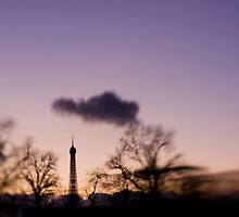 Eiffel Tower Sunset by Tobin Rogers