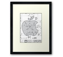 Apple Construction Dimensions Framed Print