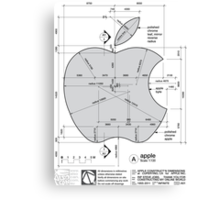 Apple Construction Dimensions Canvas Print