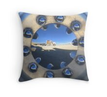 Reflection in the Desert Throw Pillow