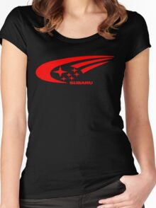 Subaru Funny Geek Nerd Women's Fitted Scoop T-Shirt
