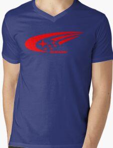 Subaru Funny Geek Nerd Mens V-Neck T-Shirt