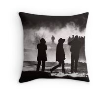 Lost In Iceland (B&W recrop) Throw Pillow