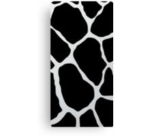 Black giraffe cow  Canvas Print