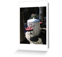 A Romantic Table for Two Greeting Card